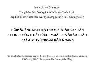 ÑAÏI HOÏC MÔÛ TP.HCM Trung Taâm Boài Döôõng Kieán Thöùc Keá Toaùn (cpa)