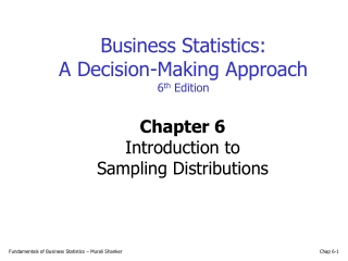 POPULATION AND SAMPLING DISTRIBUTIONS