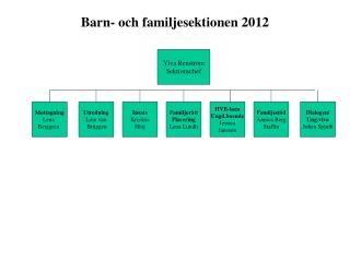 Barn- och familjesektionen 2012