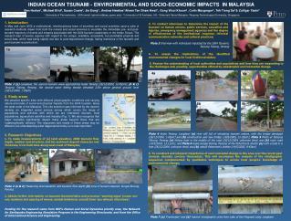 INDIAN OCEAN TSUNAMI - ENVIRONMENTAL AND SOCIO-ECONOMIC IMPACTS  IN MALAYSIA