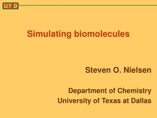 Simulating biomolecules