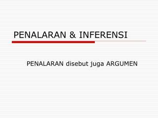 PENALARAN & INFERENSI