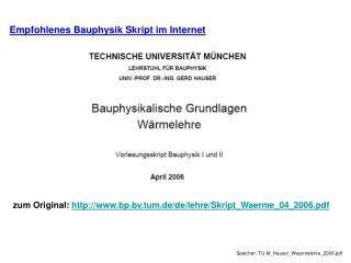zum Original:  bp.bv.tum.de/de/lehre/Skript_Waerme_04_2006.pdf