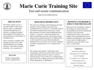Marie Curie Training Site