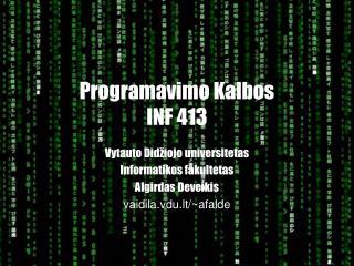 Programavimo Kalbos INF 41 3