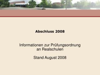 Abschluss 2008