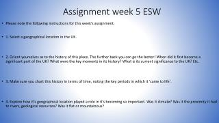 Assignment week 5 ESW