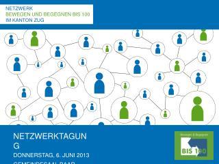 NETZWERKTAGUNG DONNERSTAG, 6. JUNI 2013 GEMEINDESAAL BAAR