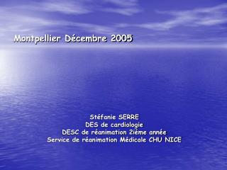 Montpellier  Décembre 2005