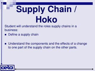 Supply Chain / Hoko