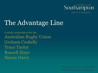 The Advantage Line