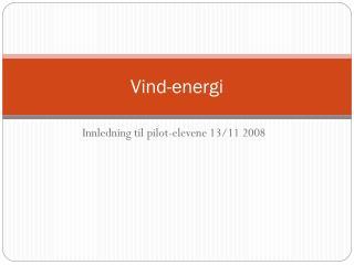 Vind-energi