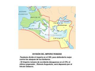 DIVISI N DEL IMPERIO ROMANO