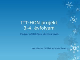ITT-HON projekt 3-4. évfolyam