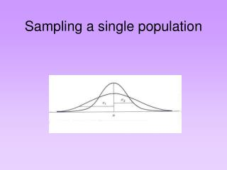 Sampling a single population