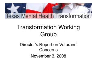 Transformation Working Group