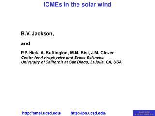 B.V. Jackson,  and P.P. Hick, A. Buffington, M.M. Bisi, J.M. Clover