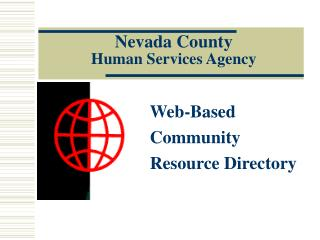 Nevada County  Human Services Agency