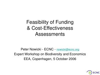 Feasibility of Funding  & Cost-Effectiveness  Assessments