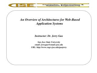 An Overview of Architectures for Web-Based Application Systems