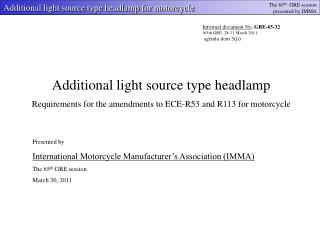 Additional light source type headlamp