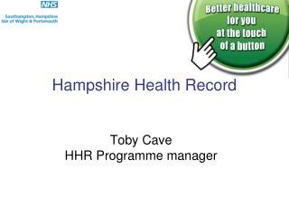 Hampshire Health Record