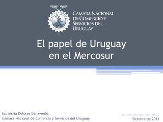 El papel de Uruguay  en el Mercosur