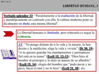 LIBERTAD HUMANA, 1
