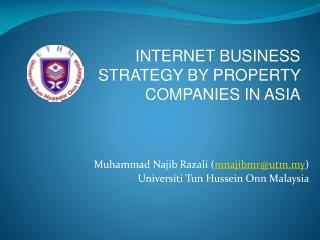 Muhammad Najib Razali ( mnajibmr@utm.my ) Universiti Tun Hussein Onn Malaysia