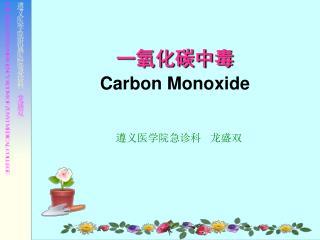 一氧化碳中毒 Carbon Monoxide