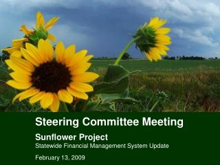 Steering Committee Meeting Sunflower Project Statewide Financial Management System Update