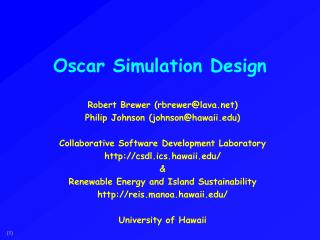 Oscar Simulation Design