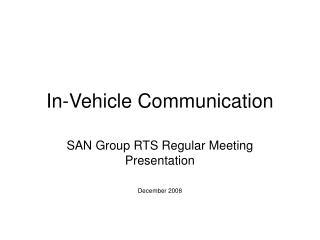 In-Vehicle Communication