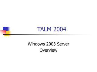 TALM 2004