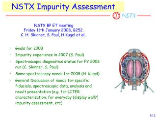 NSTX Impurity Assessment