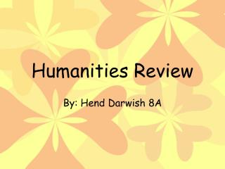 Humanities Review