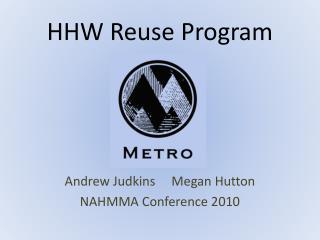 HHW Reuse Program
