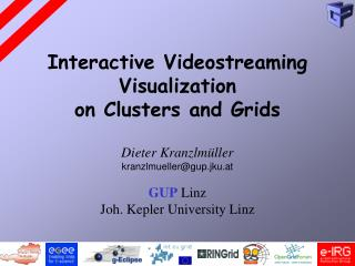 Interactive Videostreaming Visualization  on Clusters and Grids
