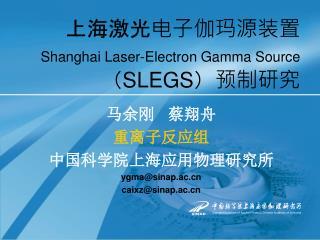 上海激光电子伽玛源装置 Shanghai Laser-Electron Gamma Source ( SLEGS )预制研究