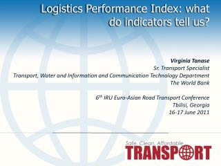 Logistics Performance Index: what  do  indicators tell  us?