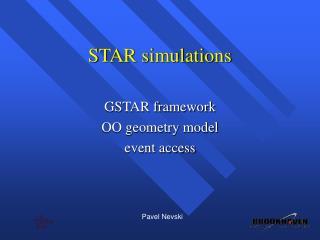 STAR simulations