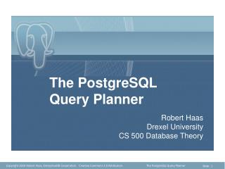 The PostgreSQL Query Planner
