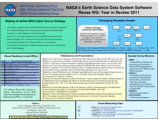 NASA's Earth Science Data System Software Reuse WG: Year in Review 2011