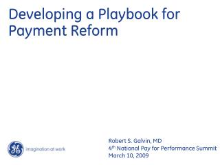 Developing a Playbook for Payment Reform