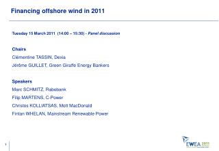 Financing offshore wind in 2011
