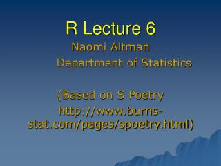 R Lecture 6