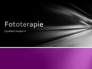 Fototerapie