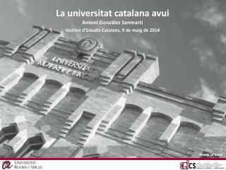Institut d'Estudis Catalans, 9 de maig de 2014
