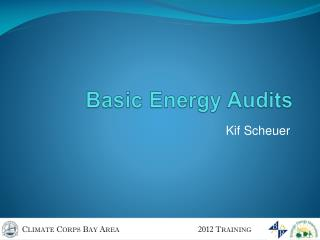 Basic Energy Audits