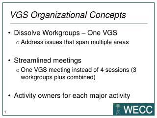 VGS  O rganizational Concepts